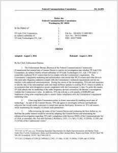 Anordnung der FCC gegen TP-Link
